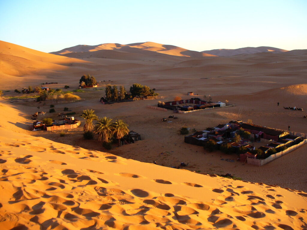 Staying at a Bedouin camp in Morocco