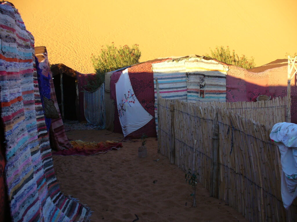 Sleeping in a Bedouin tent in Morocco