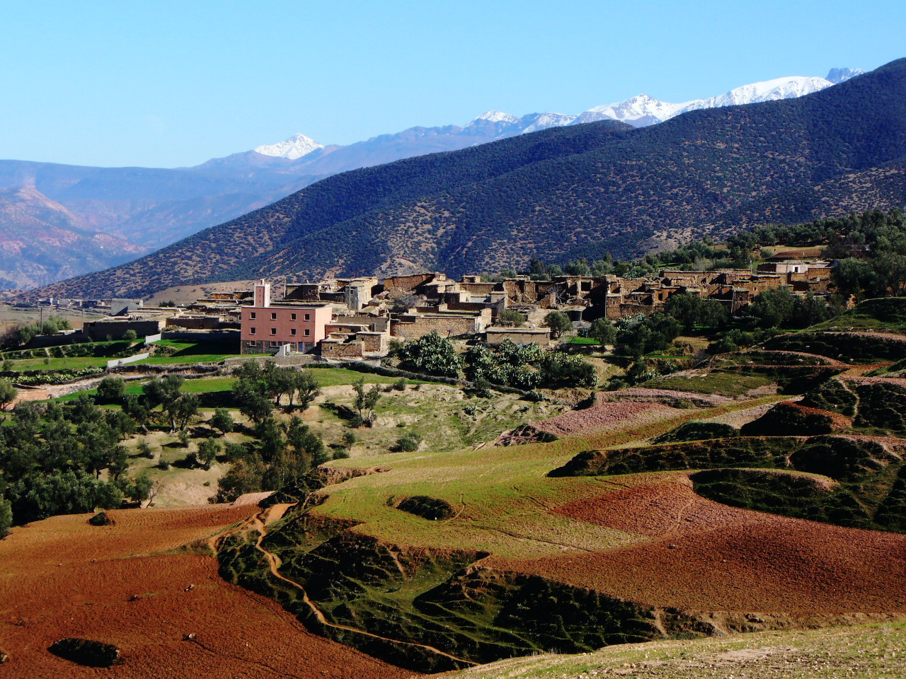 A Berber village in the High Atlas Mountains