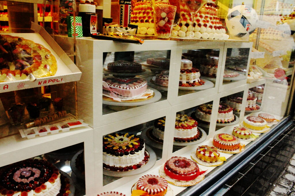 A cake shop in Zurich