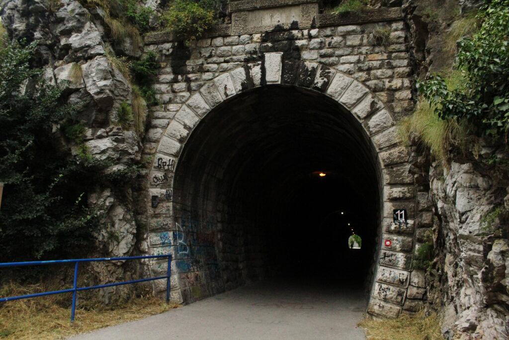 Railway tunnels in Uzice