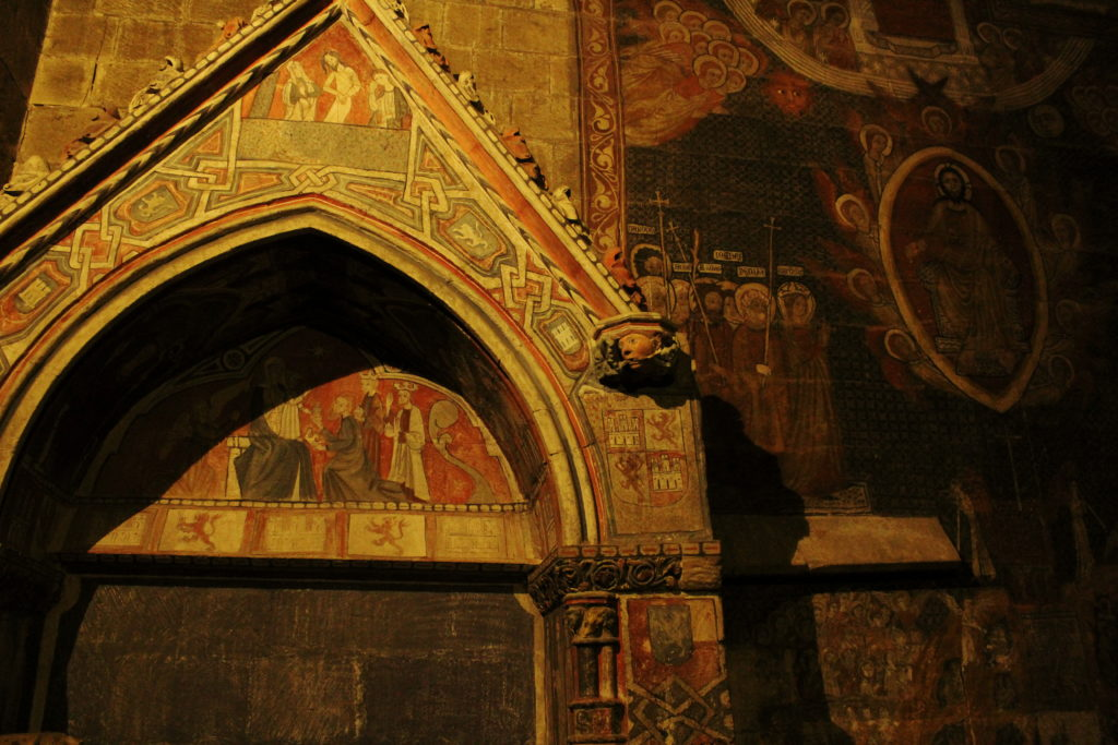 The frescoes in the Chapel of St. Martin, Salamanca