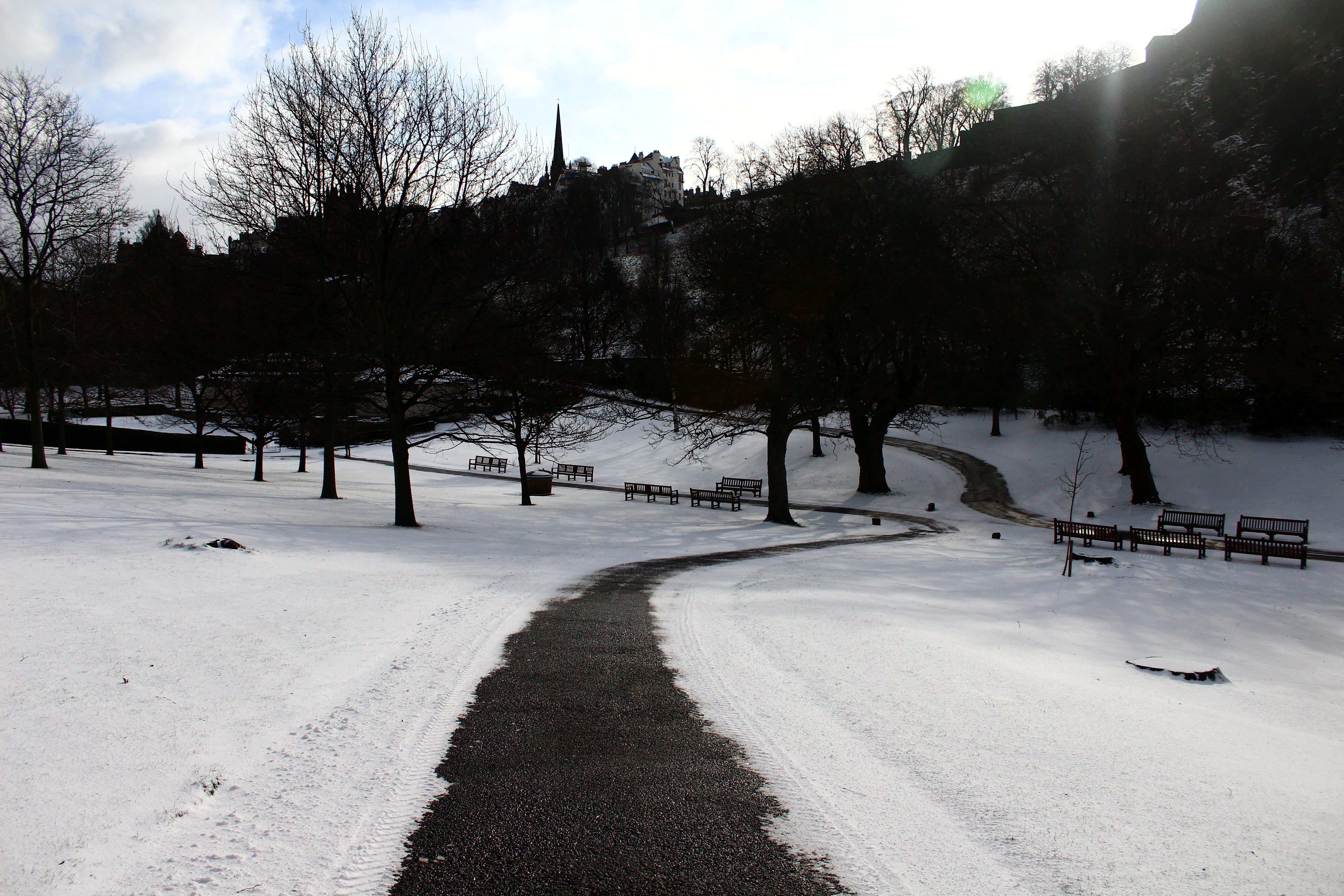 A snowy day in Edinburgh
