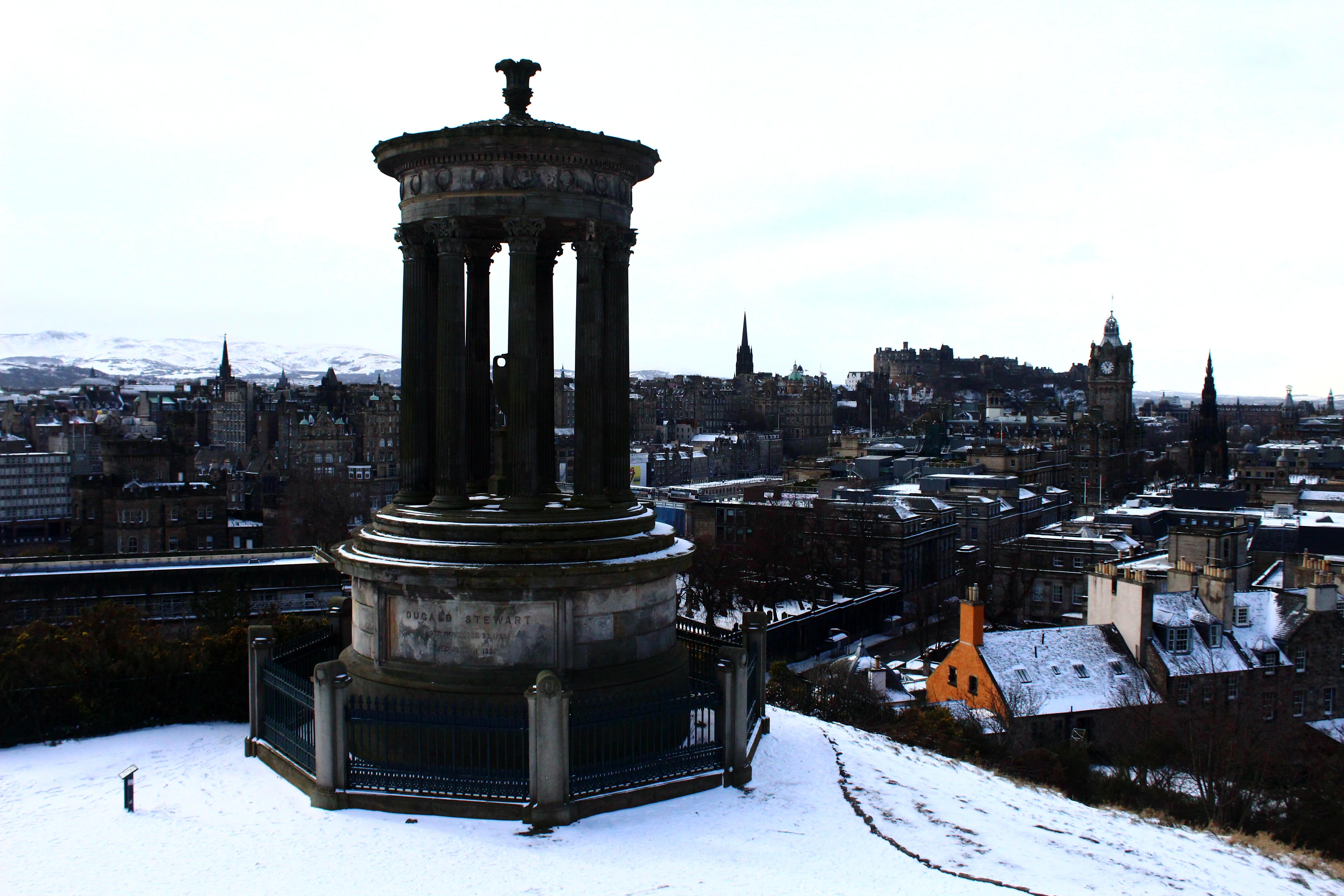 Snow in Edinburgh in February & March