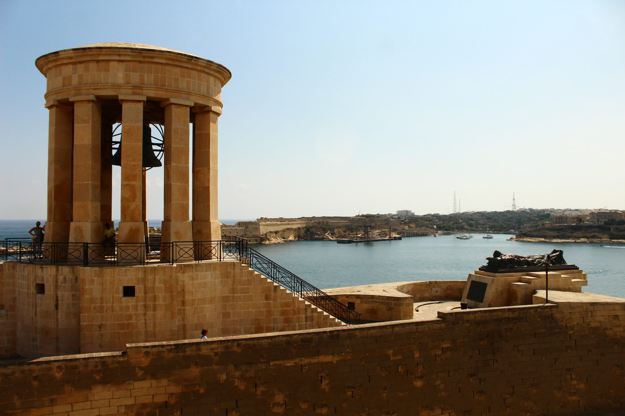 The Siege Bell War Memorial in Valletta